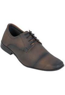 Sapato Social Marrom Com Cadarço