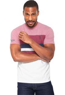 Camiseta Aleatory Listrada Rosa