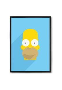Quadro Decorativo 33X43Cm Nerderia E Lojaria Simpsons Homer Preto