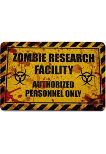Capacho Ecológico Zombie Research Facility - Blood Geek10 Amarelo