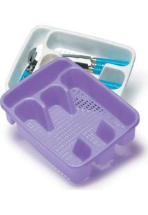 Organizador Porta Talher De Gaveta Plastico 21,5X30X4,2Cm