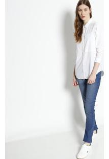 ... Camisa Com Bolso Diferenciado   Linho - Off Whitelacoste 739025d871