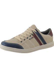 Tênis Sapatênis Cano Curto Cr Shoes Lançamento Bege