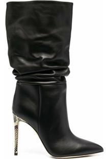 Paris Texas Ankle Boot Preto Com Salto Agulha