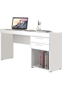 Mesa Para Computador Notável Office 2 Gavetas Branco New