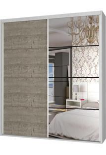 Guarda-Roupa Casal 2 Portas Com 1 Espelho 100% Mdf 1910E1Ca Branco Tx/Demoli - Foscarini