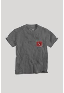 Camiseta Infantil Bolso Xadrez Retalho Reserva Mini Masculina - Masculino