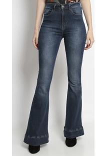 Jeans Flare Estonado- Azultvz