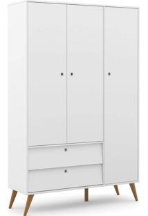 Roupeiro 3 Portas Gold Branco Soft/Eco Wood Matic Mã³Veis - Branco - Dafiti