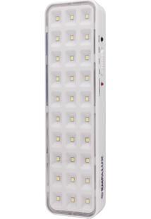 Luminária De Emergência Led 2W Bivolt Branca