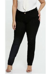Calça Feminina Sarja Skinny Plus Size