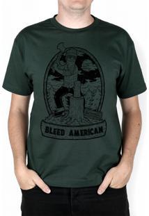 Camiseta Bleed American Fontana Musgo