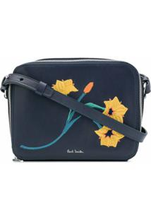 Paul Smith Bolsa Transversal Com Bordado Floral - Azul