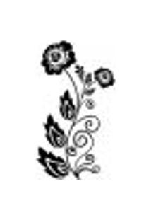 Adesivo De Parede - Floral Arabesco, Flores E Folhas - 013Fl-G