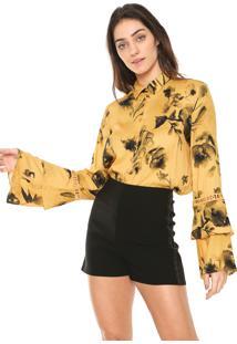 Camisa Sommer Estampada Amarela