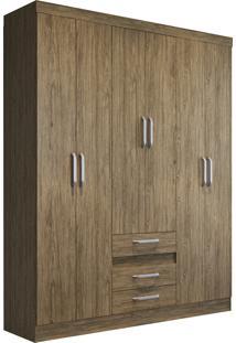 Guarda Roupa Casal Decibal Rp3630 Opala 6 Portas 3 Gavetas Wood