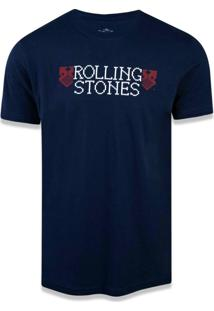 T-Shirt New Era Basico M/C The Rolling Stones Marinho