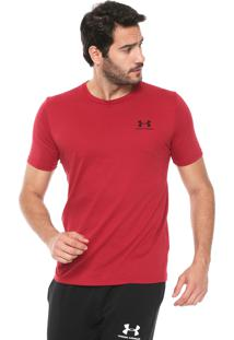 Camiseta Under Armour Ss Lif Vermelha