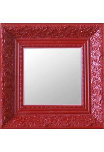 Espelho Moldura Rococó Fundo 16158 Vermelho Art Shop