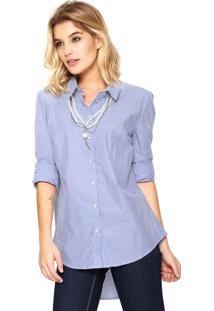 Camisa Carmim Liliane Azul