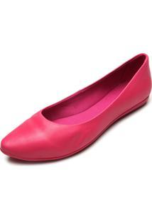 Sapatilha Couro Bottero Liso Pink
