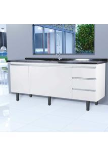 Gabinete Montebello P/ Pia 200Cm Branco Bonatto