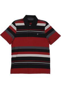 1f0cf84f82 ... Camisa Polo Piquet Listrada Tassa Masculina - Masculino-Vermelho