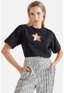 Blusa Bordado Estrela Eva - Feminino