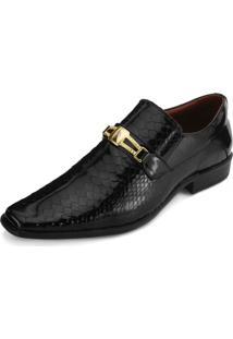 Sapato Promais Pr18-0556Co Verniz Cobra Preto
