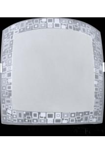 Plafon Sobrepor Quadrado Médio Mosaico Branco Attena