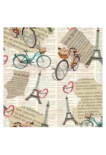 Papel De Parede Vintage Jornal Paris 57X270Cm