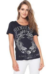 bcd6002ab Camiseta Azul Marinho Kj feminina   Shoelover