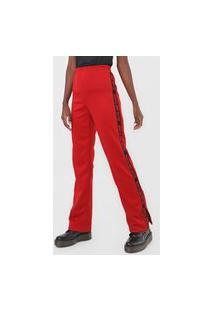 Calça 2Nd Floor Reta Fenda Logo Vermelha