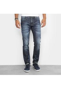 Calça Jeans Reta Sawary Estonada Masculina - Masculino