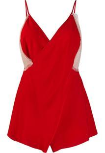 Victoria Beckham Blusa Com Renda - Vermelho