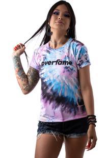 Camiseta Baby Look Feminina Tie Dye Tigrado Md39