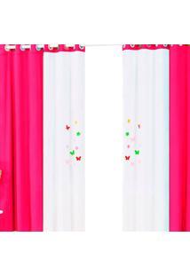 Cortina Casa Conforto Primavera 2M- Pink