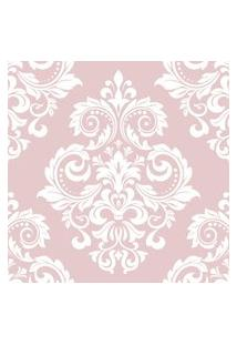 Papel De Parede Arabesco Floral Rosa Nobre 57X270Cm