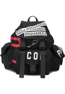 Dsquared2 Logo Tape Backpack - Preto