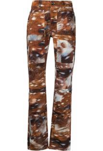 Lourdes Calça Jeans Skinny Com Estampa - Marrom