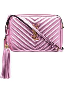 Saint Laurent Bolsa Transversal Lou Camera - Rosa