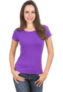 Camiseta Feminina Roxa Lisa