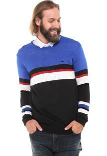 Suéter Triton Listrada Azul
