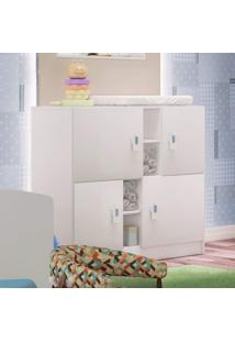 Cômoda De Bebê 4 Portas Móveis Percasa Branco