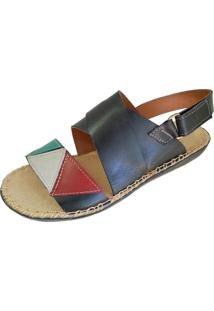 Sandalia Scarpe Velcro Preto