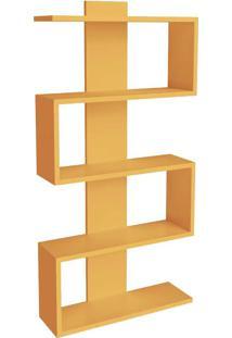 Estante Para Livros 4 Prateleiras Design Am3087 Amarelo - Móvel Bento