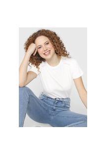 Camiseta Forum Lettering Neon Off-White/Rosa
