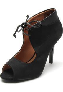 Ankle Boot Vizzano Amarrada Preto