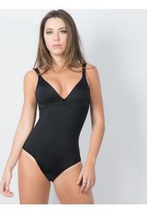 Modelador Body Sem Bojo E Sem Aro Elegance - Feminino-Preto