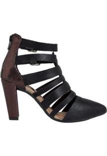 Sandália Ankle Boot Dakota Feminino - Feminino-Preto